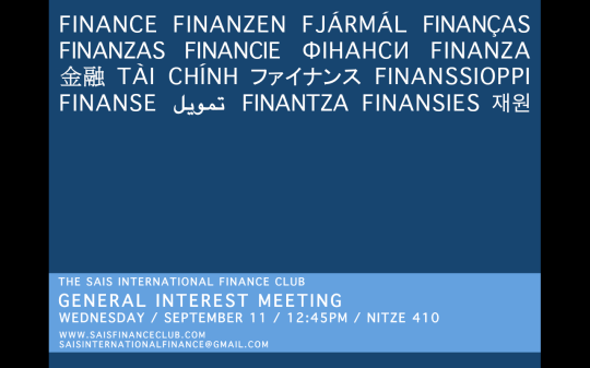General Interest Meeting Poster