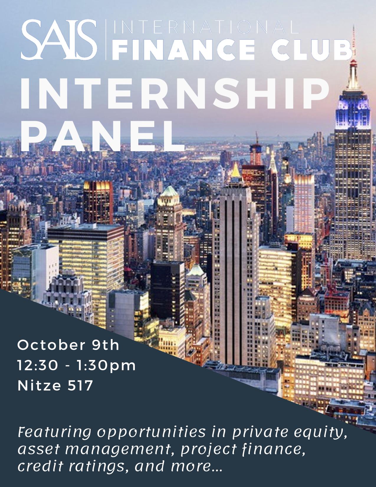 SIFC internship panel